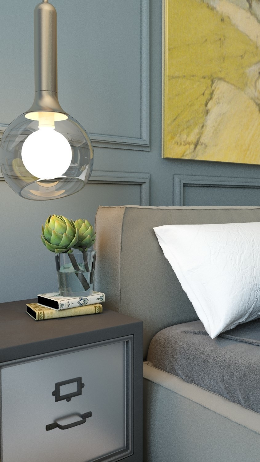 Pretty Bedside Table - 8 creatively designed bedrooms in detail