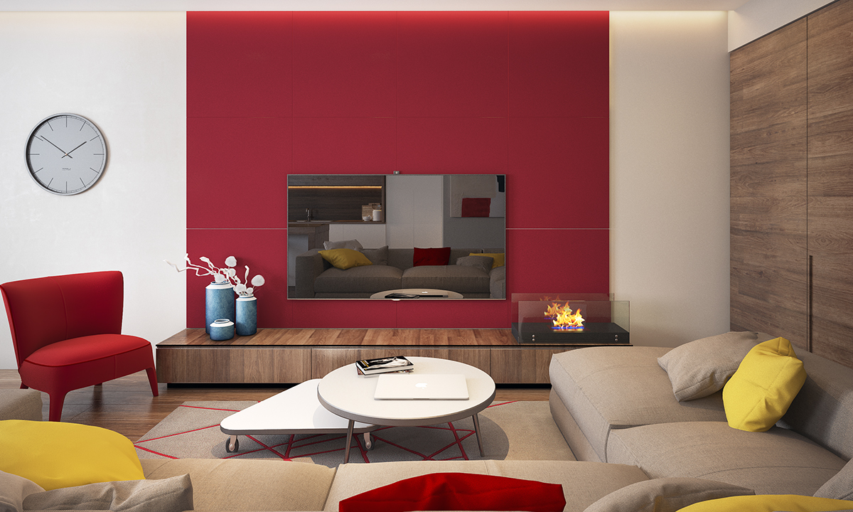 Red Accent Wall - Two homes with colorful kids rooms included