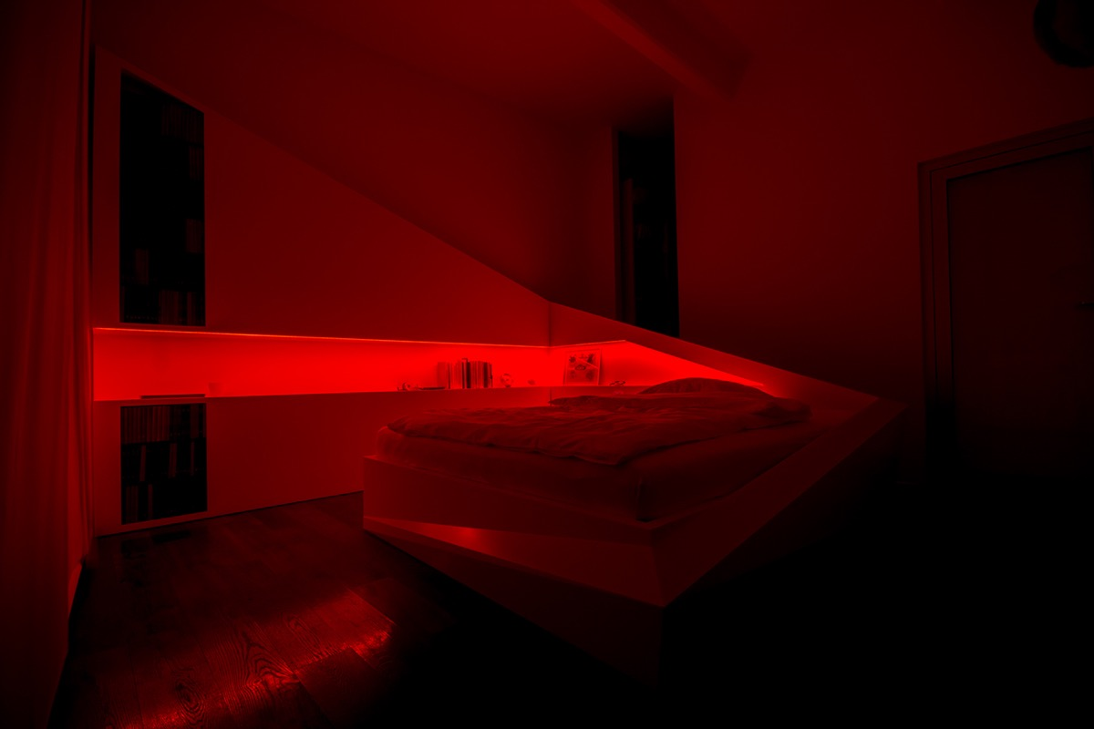 Red Light Bedroom - 8 creatively designed bedrooms in detail
