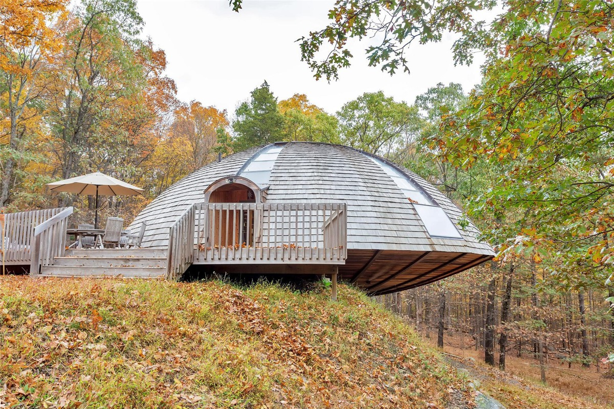 Flying saucer shaped house takes design to new heights for V shaped house
