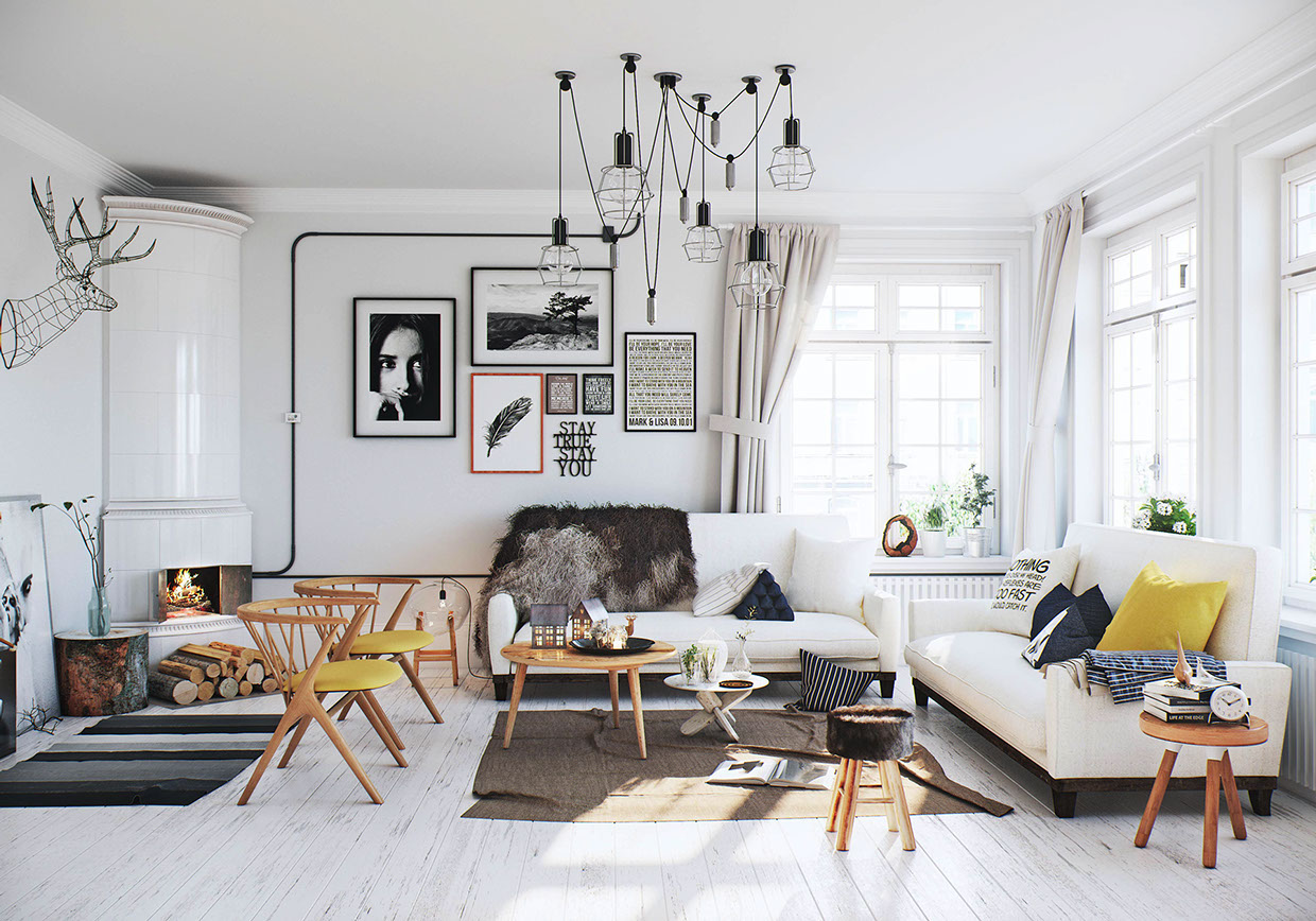 Scandinavian living room interior design ideas - Style scandinave ikea ...