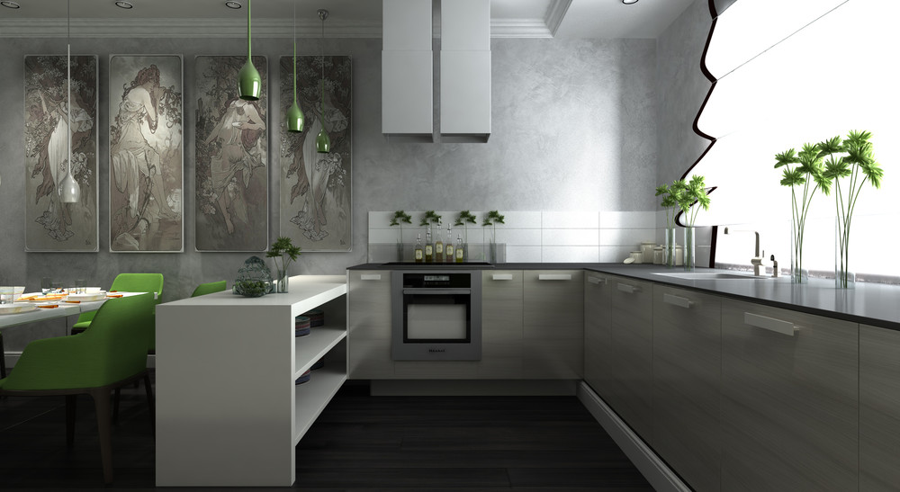 Simple Cabinetry - Dark neutrals and clean lines unite six stylish homes