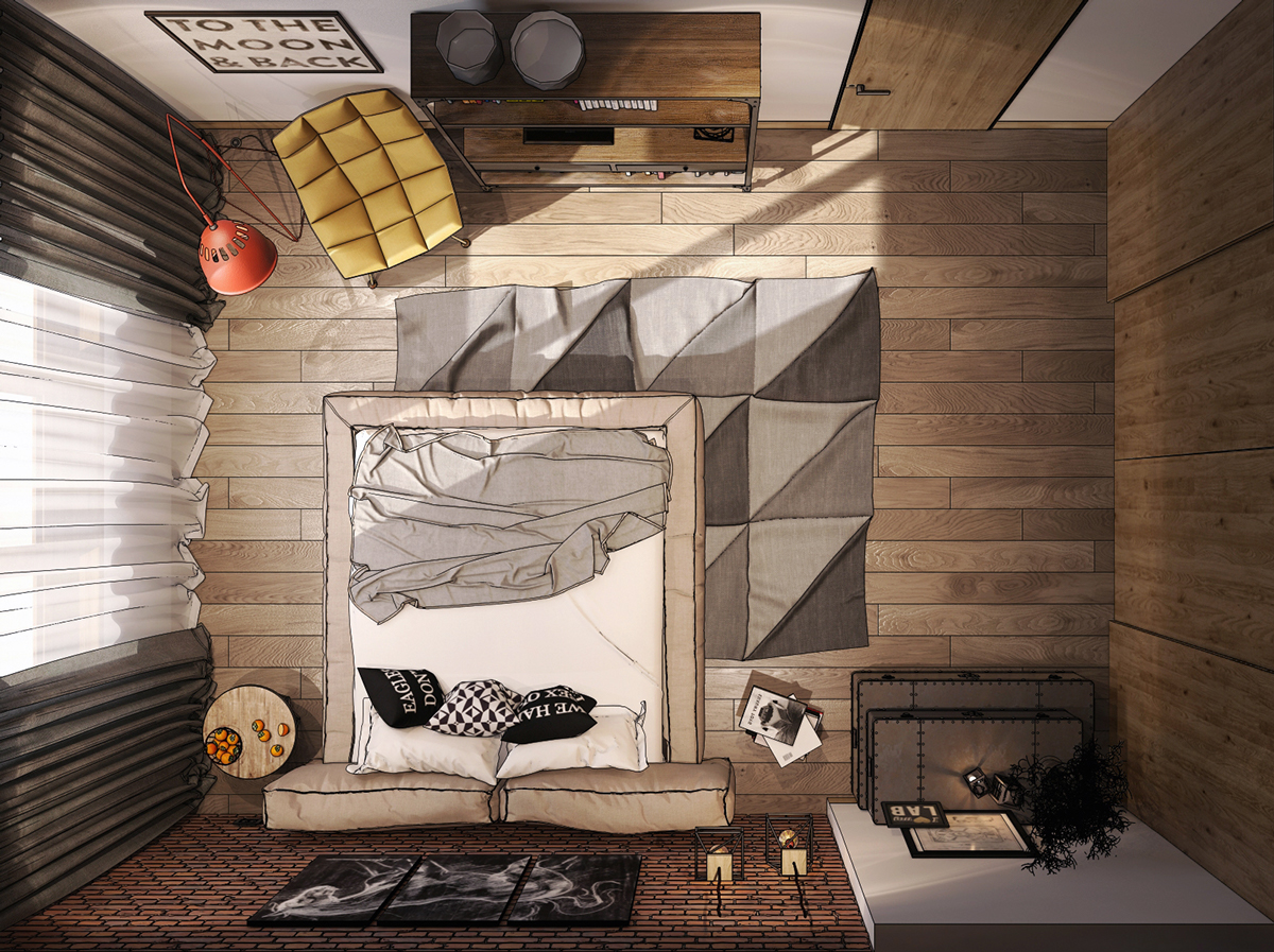 8 creatively designed bedrooms in detail. beautiful ideas. Home Design Ideas