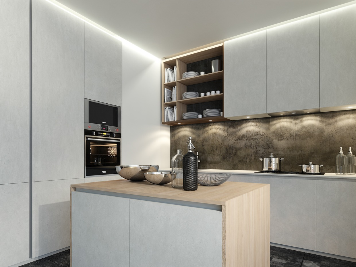 Small modern kitchen design interior design ideas for Kichan dizain