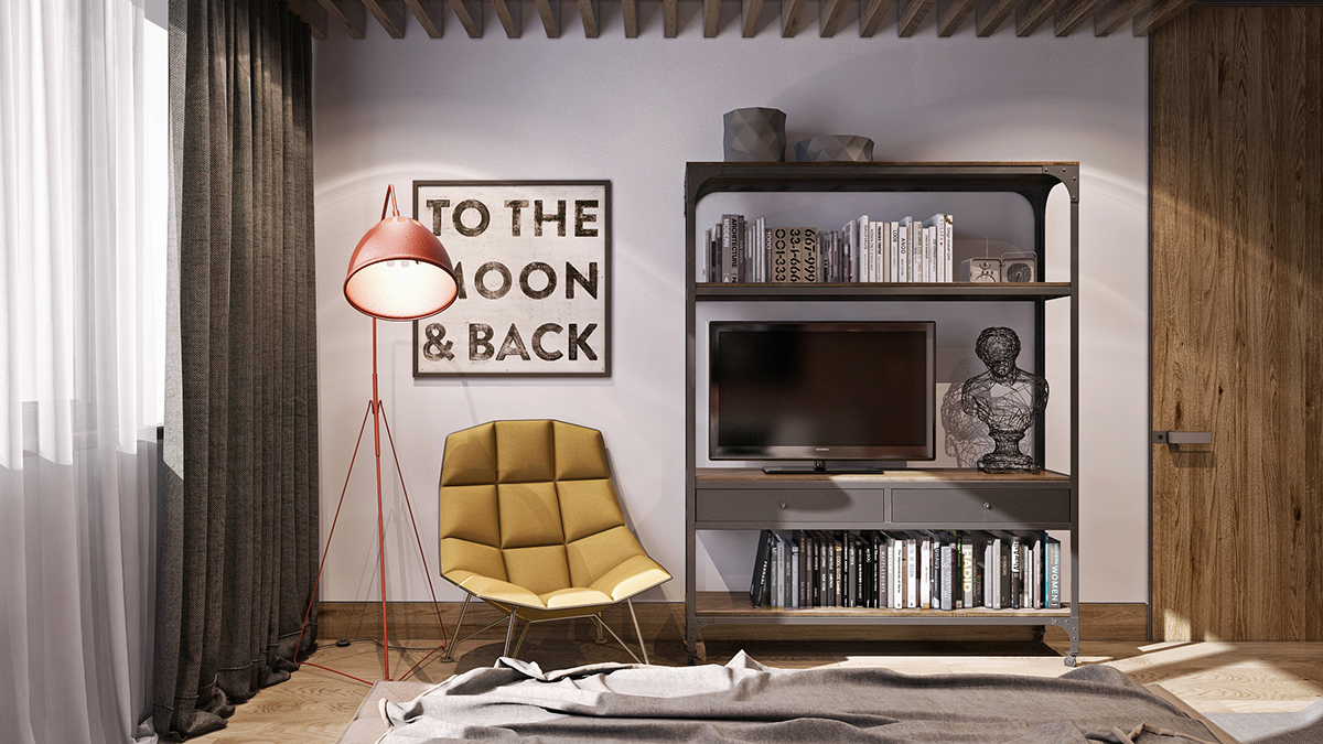Soft Yellow Chair - 8 creatively designed bedrooms in detail