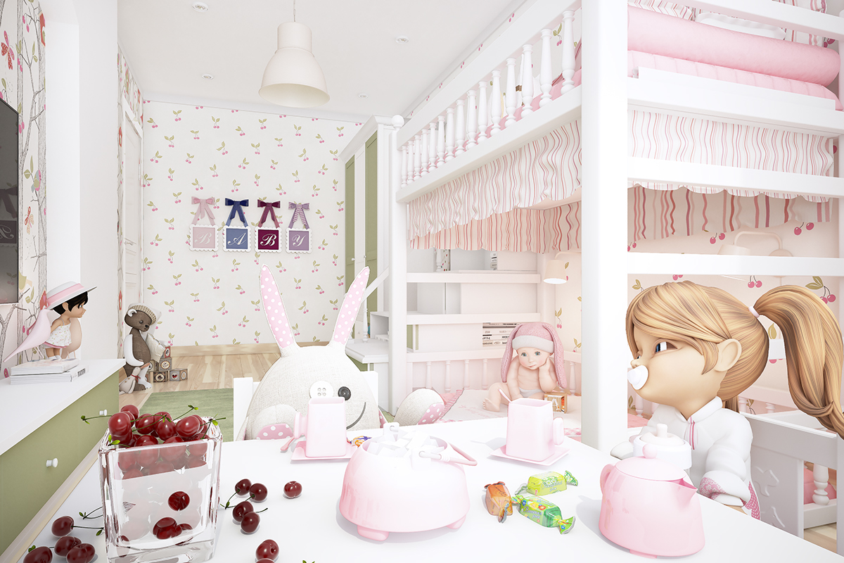 Tea Party Room - Two homes with colorful kids rooms included