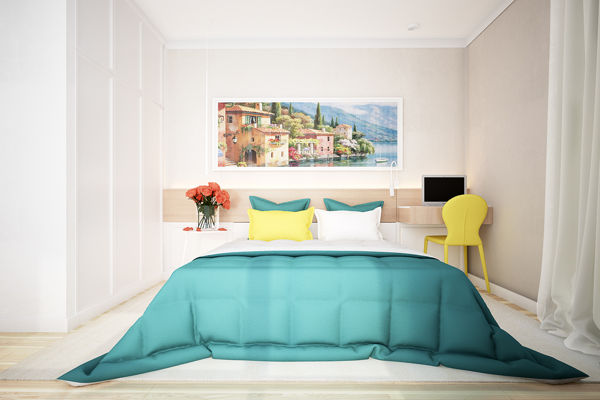 Teal Duvet - Two homes with colorful kids rooms included