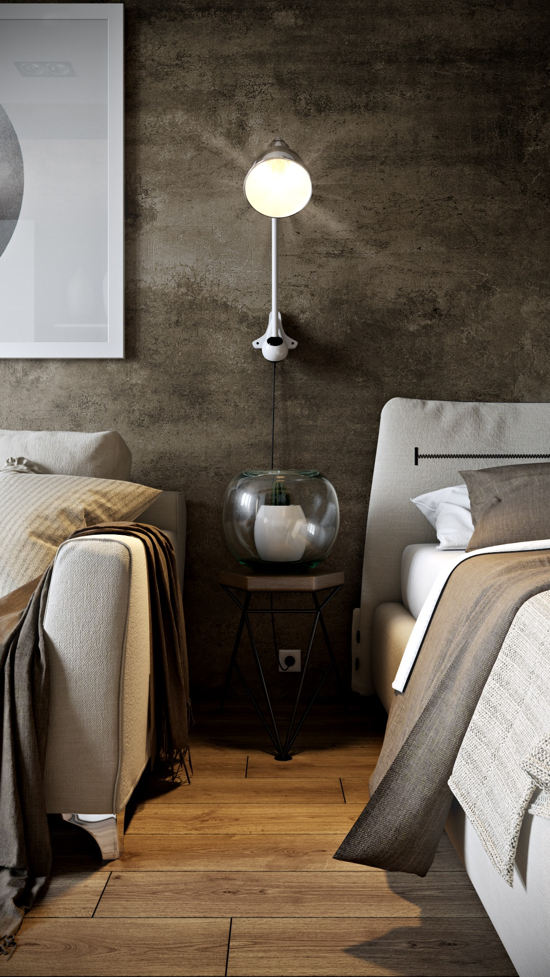 Textured Wall Treatment - Dark neutrals and clean lines unite six stylish homes