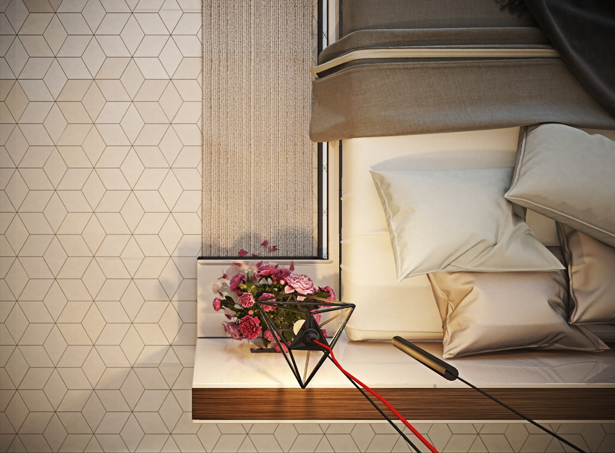 Tiled Floor Ideas - 8 creatively designed bedrooms in detail