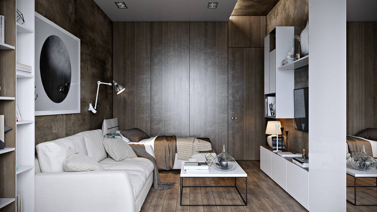 White And Copper Design - Dark neutrals and clean lines unite six stylish homes