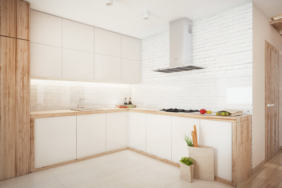 White Cream Cabinetry - Similarly simple designs with a bright and cheerful tone