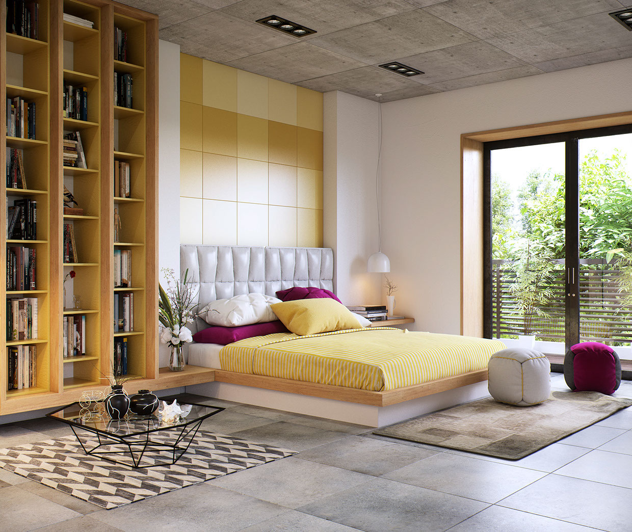 White Tufted Headboard - 8 creatively designed bedrooms in detail