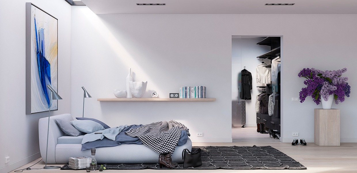 White Wall Bedroom - 8 creatively designed bedrooms in detail