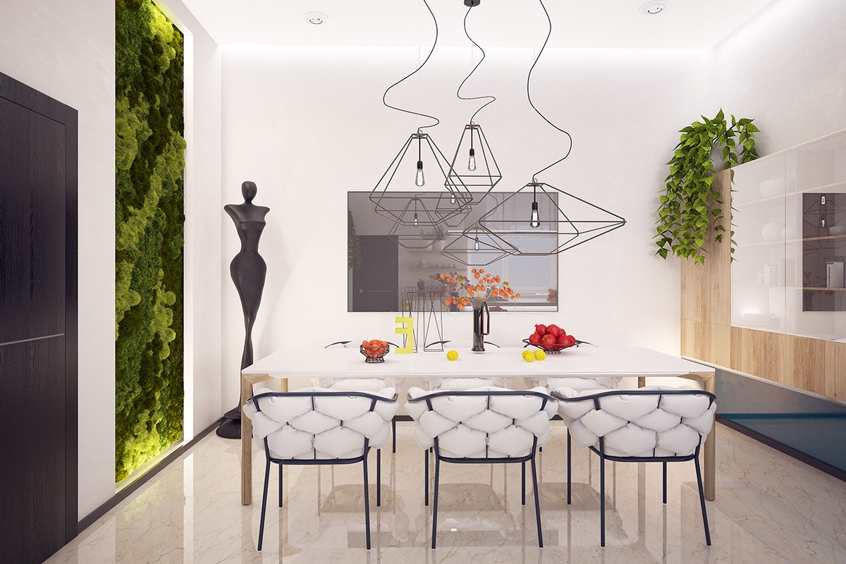 White Wall Design - Verdant vertical gardens bring beauty indoors
