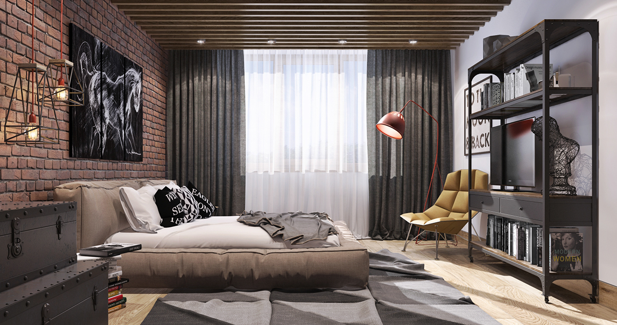 Wood Slat Ceiling - 8 creatively designed bedrooms in detail