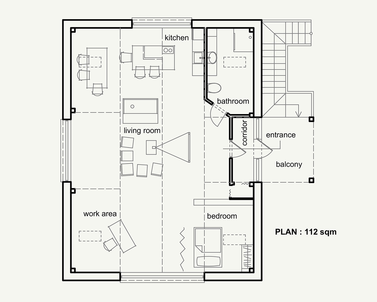 Attic Home Floorplan - 4 stylish homes with slanted ceilings