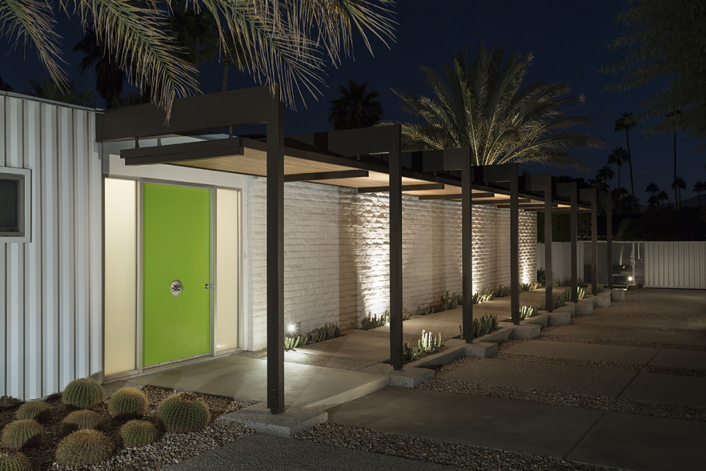 Bright Green Front Door - A mid century desert oasis in palm springs