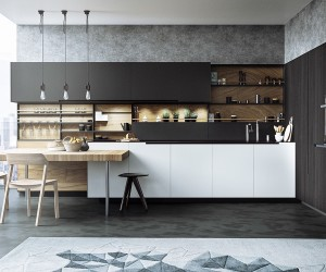 design kitchen. 20 Sleek Kitchen Designs with a Beautiful Simplicity  Black White Wood Kitchens Ideas Inspiration