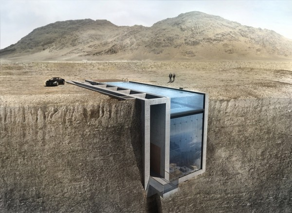 An Innovative House Carved Out of a Cliff