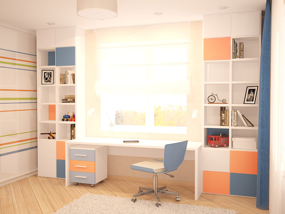 Coral And Blue Palette - A cozy apartment in kyiv with soft citrus accents