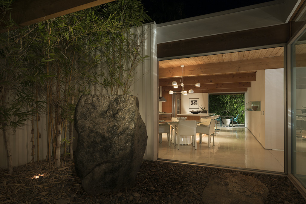 Corrugated Exterior - A mid century desert oasis in palm springs