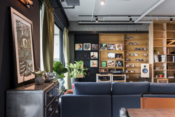 In addition to cats, the couple also collects other ephemera that is not quite so demanding. Plenty of shelving options make it easy to curate a picture perfect display.