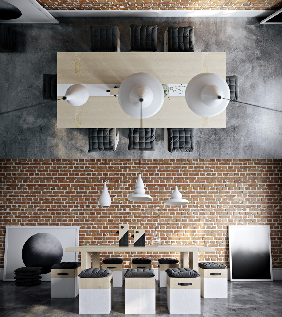 Exposed Brick Dining Room - Take a bite out of 24 modern dining rooms