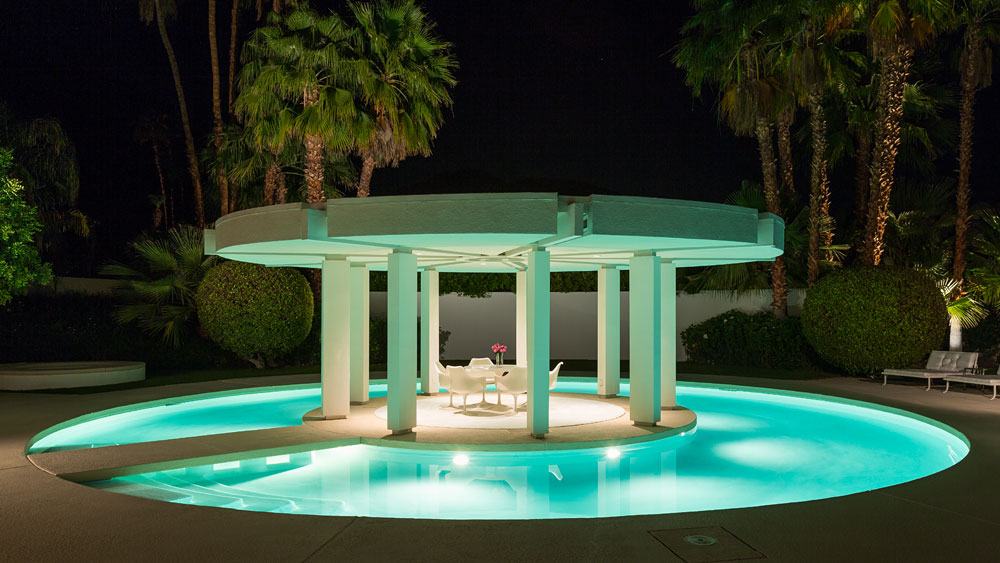 Greek Inspired Private Pool - Luxury socal home celebrates the endless summer