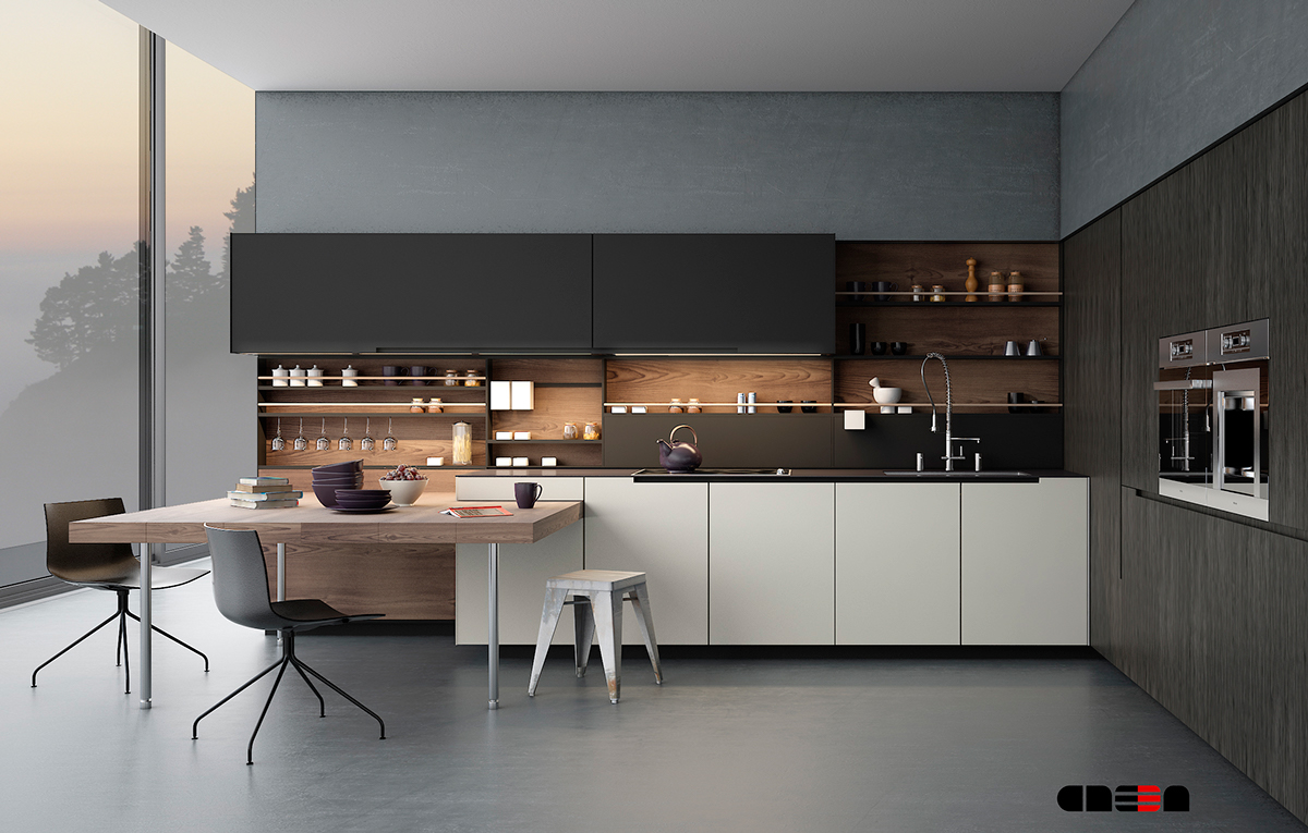 20 sleek kitchen designs with a beautiful simplicity for Sleek kitchen designs