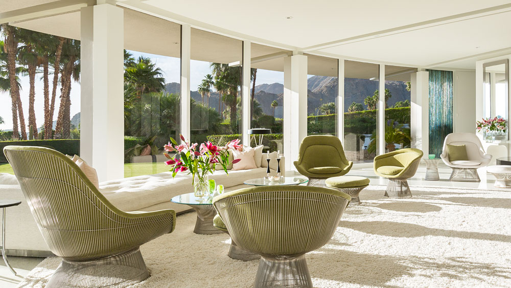 Modern Wicker Furniture - Luxury socal home celebrates the endless summer