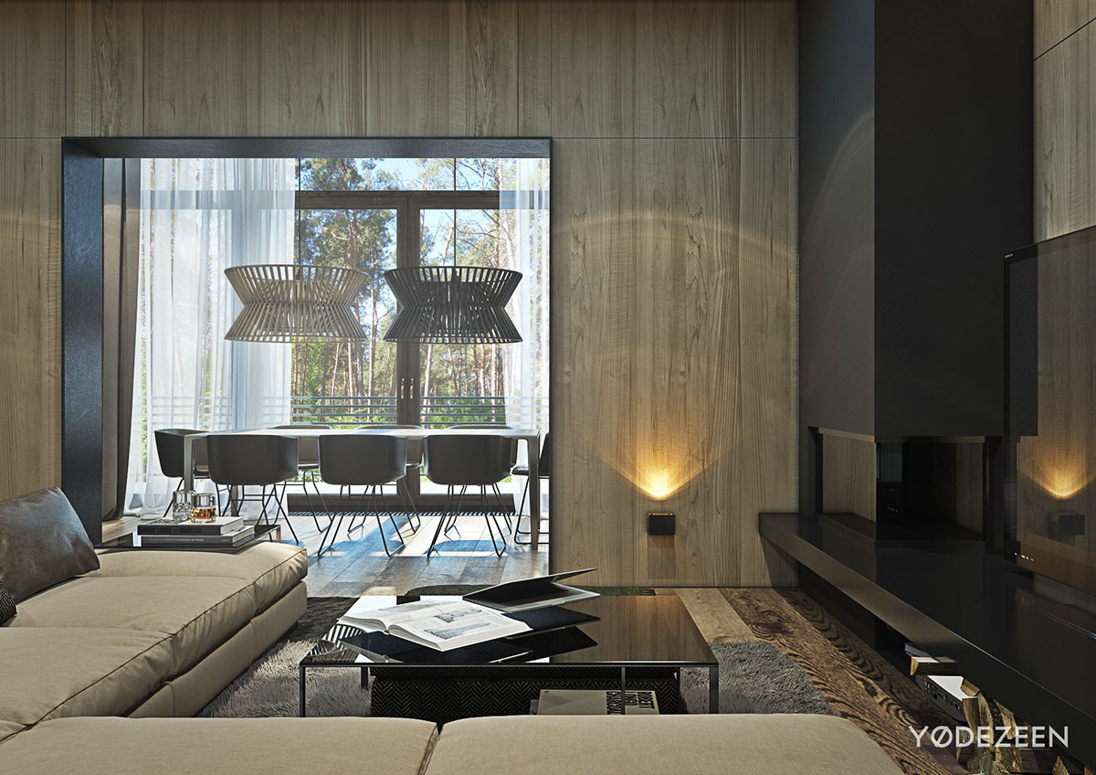 Modern Wood Wall Panels : A suburban kiev apartment design with luxury in mind