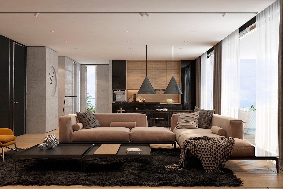 Lovely Living Rooms For A Design Loving Life - Kitchen and living room designs