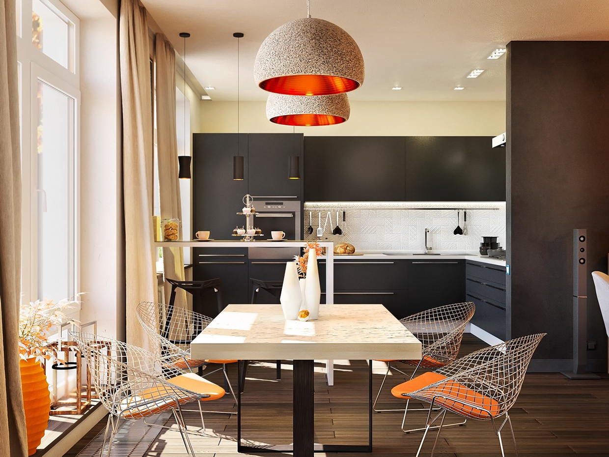 Quaint Kitchen Table - Chic studio apartments with artsy accents