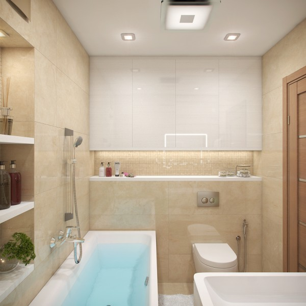 Apartment Bathrooms Ideas Bathroom Designs: A Cozy Apartment In Kyiv With Soft Citrus Accents