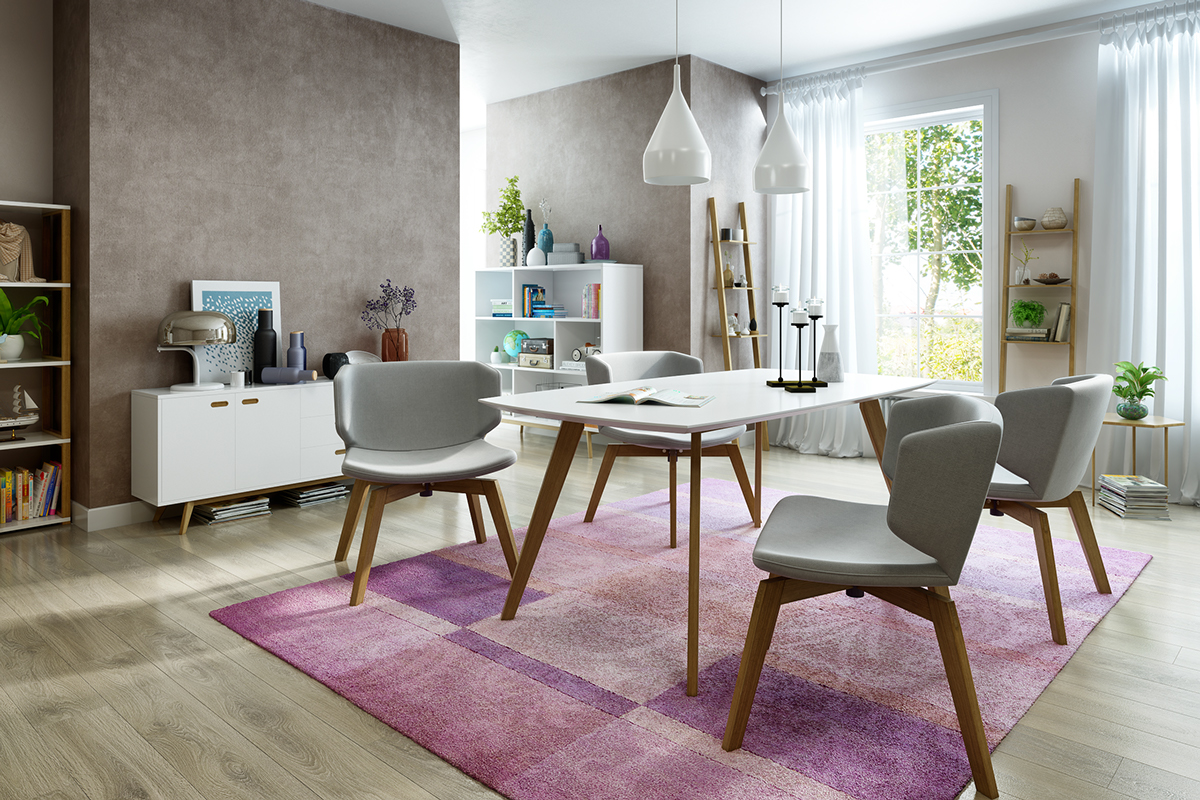 Take a bite out of 24 modern dining rooms for Contemporary dining room pictures