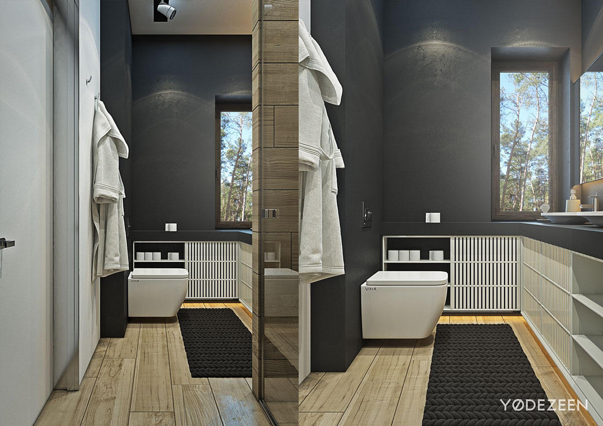 A suburban kiev apartment design with luxury in mind for Simple but elegant bathroom designs