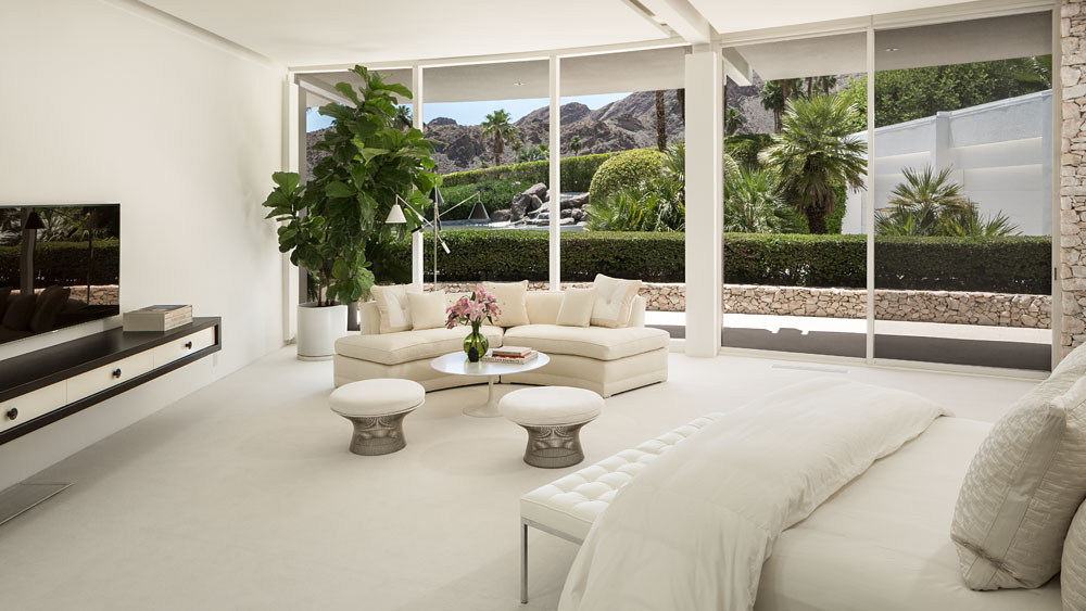 Simple Ottoman Design - Luxury socal home celebrates the endless summer