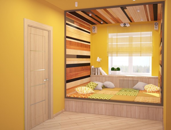 In the children's areas, a little more playfulness is called for. Colors are bit more vibrant and patterns come into play with stripes dominating.