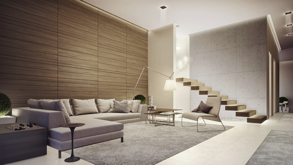 Lovely living rooms for a design loving life - Grey wood floors modern interior design ...