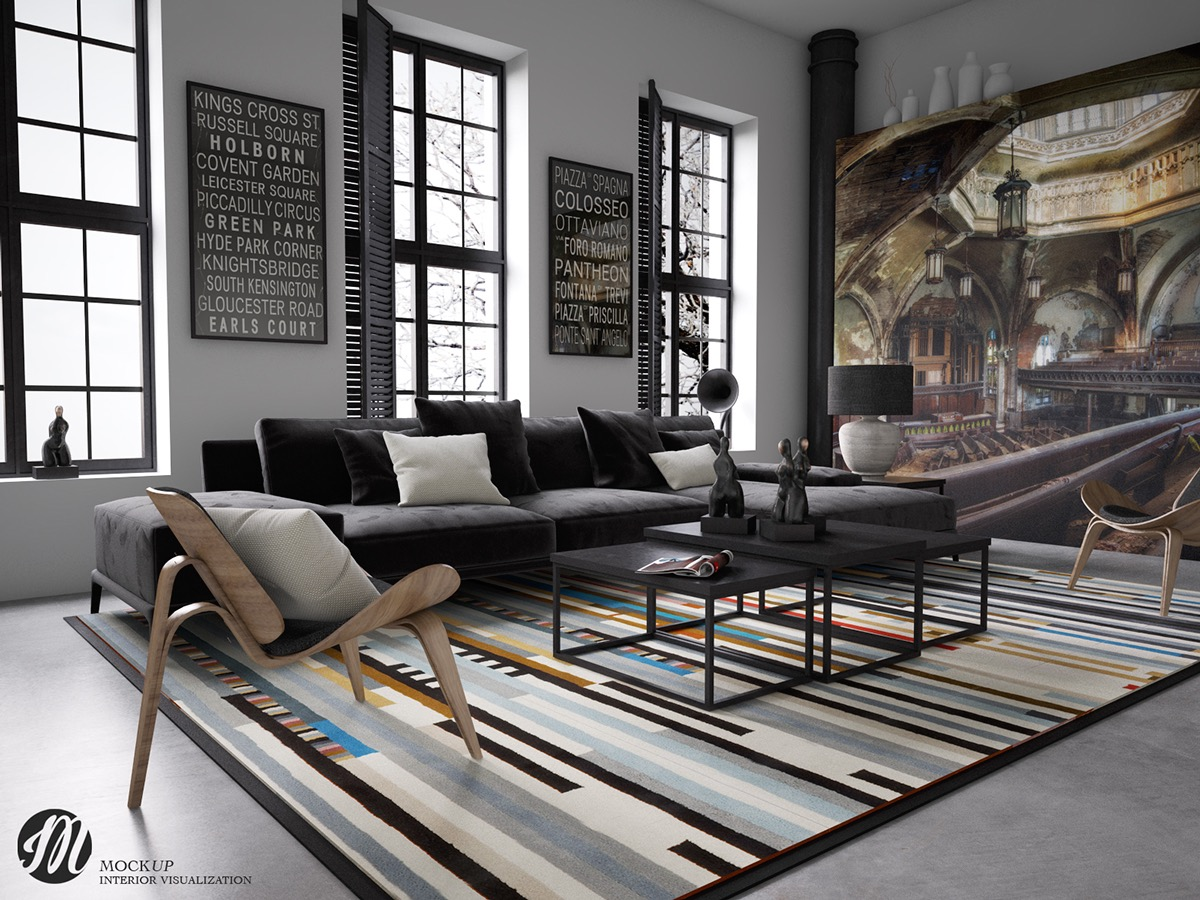 Striped Rug Living Room