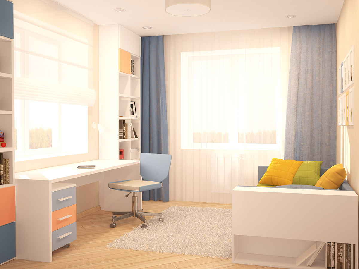 Sunny Kids Room - A cozy apartment in kyiv with soft citrus accents