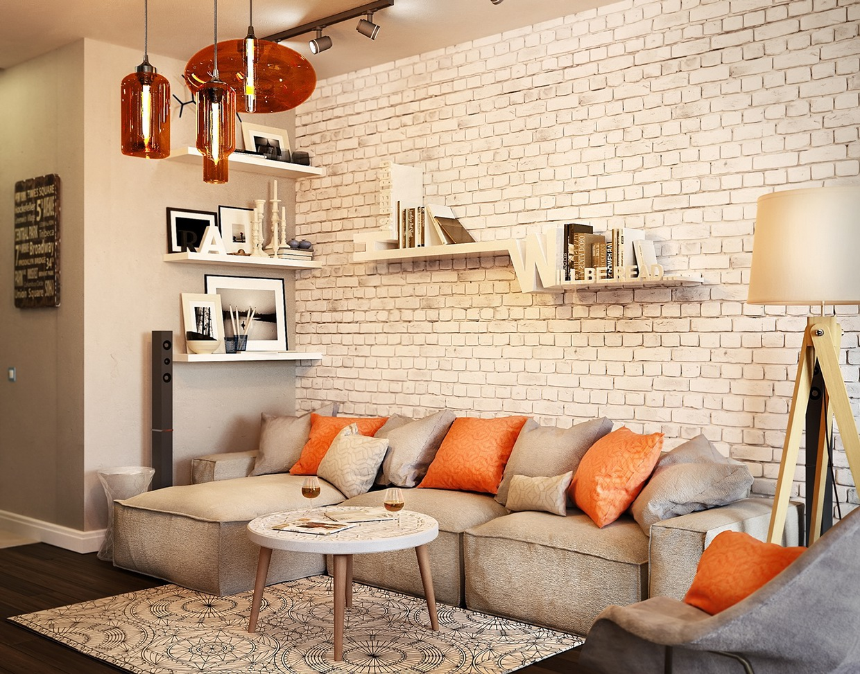 White Brick - Chic studio apartments with artsy accents