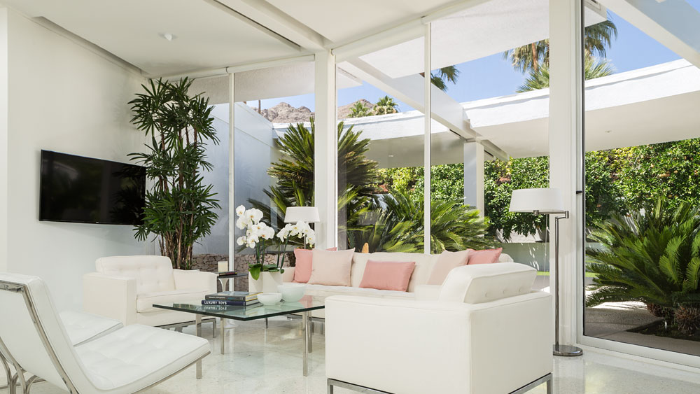 White Living Room Furniture - Luxury socal home celebrates the endless summer
