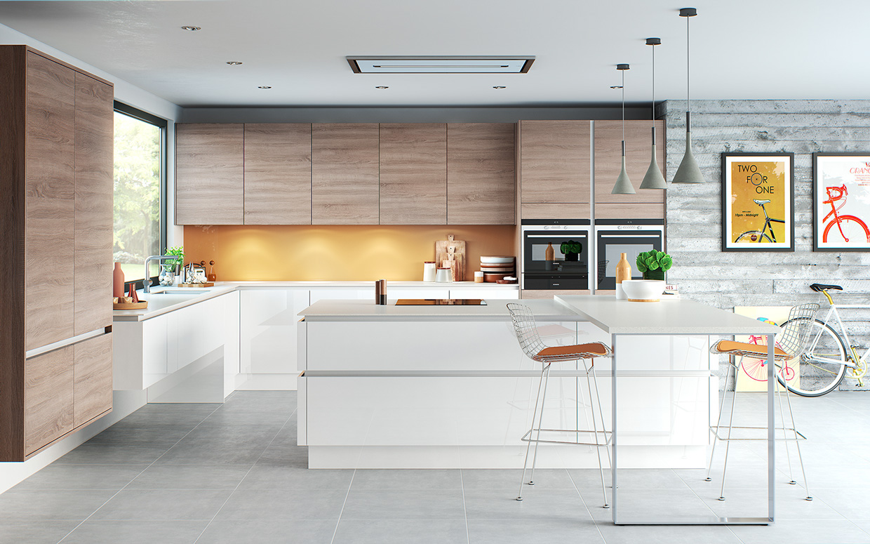 20 sleek kitchen designs with a beautiful simplicity for Kitchen design cabinets