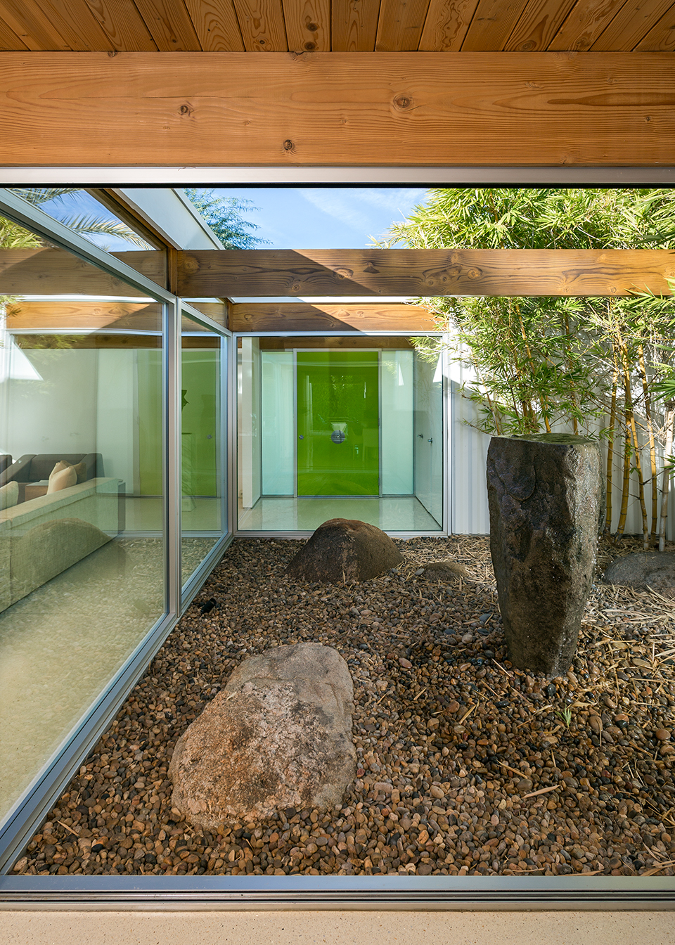 Xeriscaping - A mid century desert oasis in palm springs