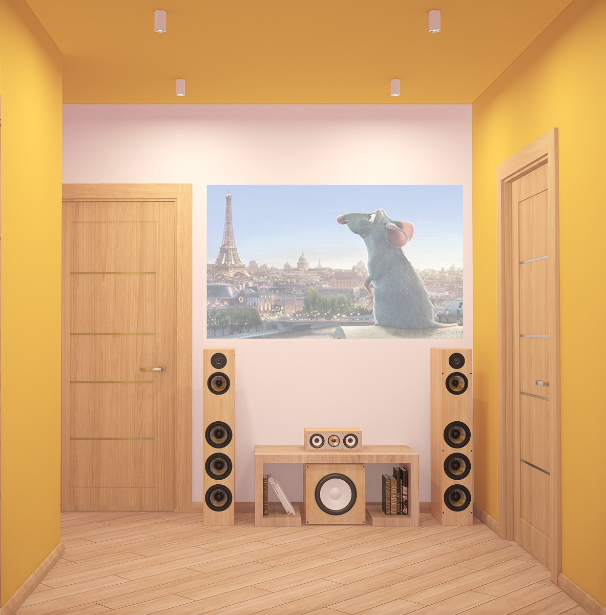 Yellow Wall Ideas - A cozy apartment in kyiv with soft citrus accents