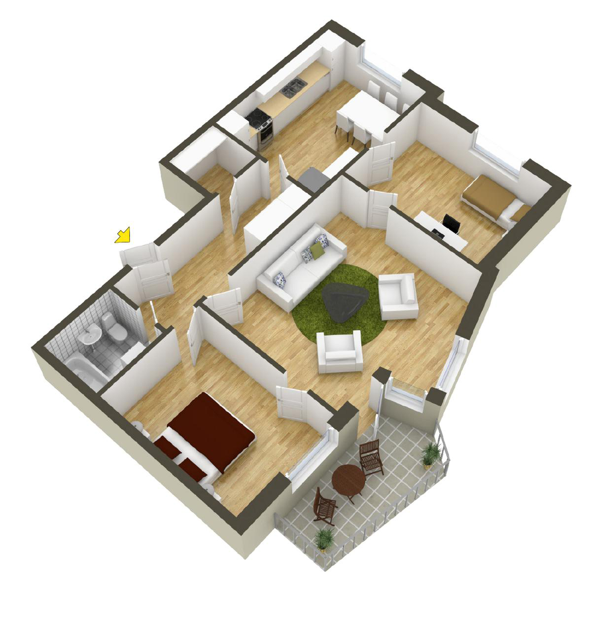 Apartment Room Plan 40 more 2 bedroom home floor plans