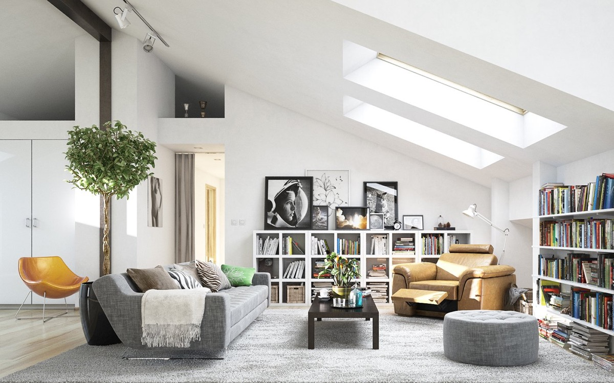 Scandinavian living room design ideas inspiration for Clean modern living room