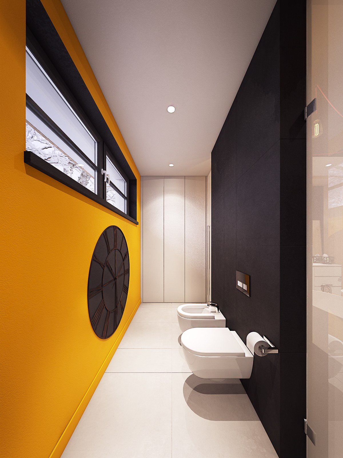 Bath With Bidet - A seductive home with lush colors and double baths