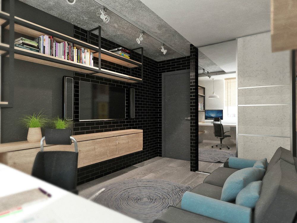 4 small beautiful apartments under 50 square meters. Black Bedroom Furniture Sets. Home Design Ideas
